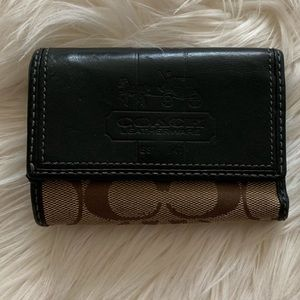 Coach Wallet with Pink Leather & Plaid Lining
